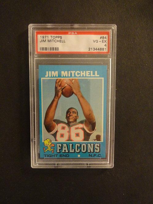 1971 Topps #84 Jim Mitchell PSA 4