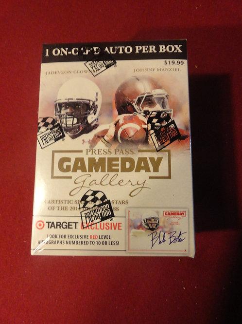 2014 Press Pass Game Day Football Blaster Box