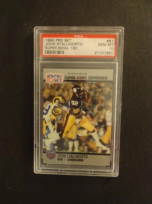 1990 Pro Set Super Bowl #51 John Stallworth PSA 10