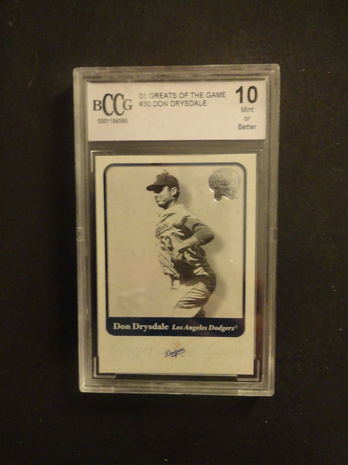 2001 Fleer Greats of the Game Don Drysdale BCCG 10