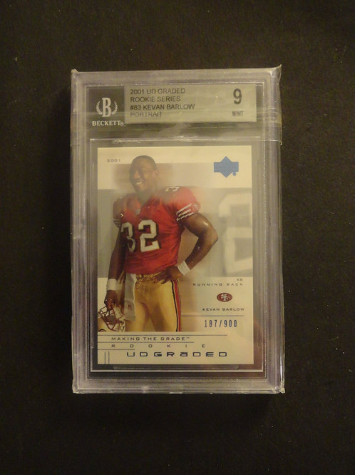 2001 UD Graded Kevin Barlow Portrait RC #/900 BGS 9