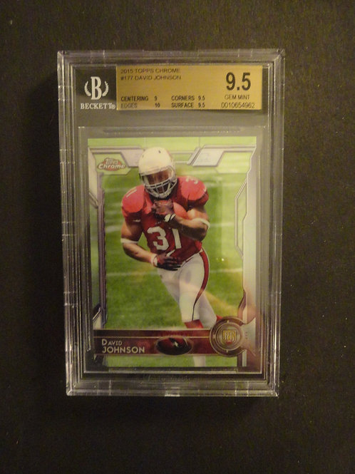 2015 Topps Chrome David Johnson RC BGS 9.5
