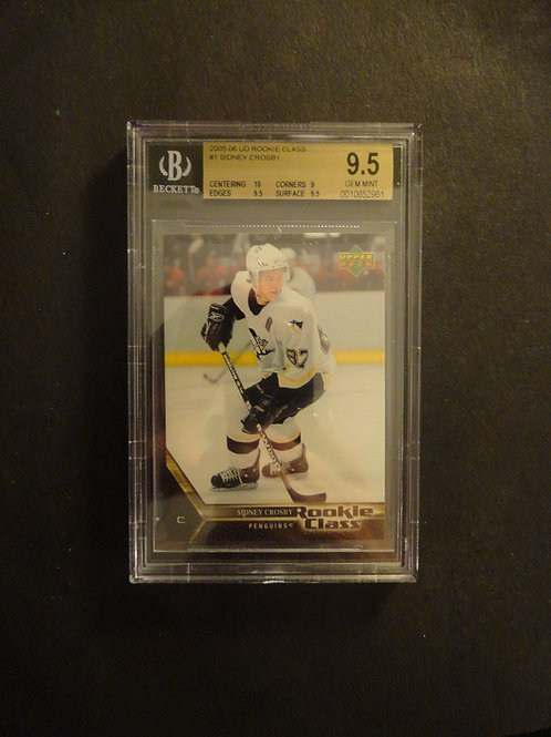 2005 Upper Deck Rookie Class Sidney Crosby RC BGS 9.5