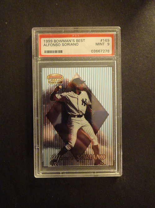 1999 Bowman's Best Alfonso Soriano RC PSA 9