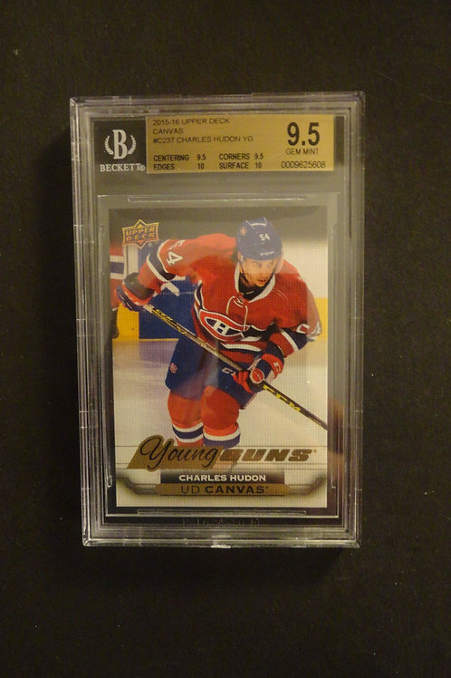 2015 Upper Deck Canvas Charles Hudon Young Guns RC BGS 9.5