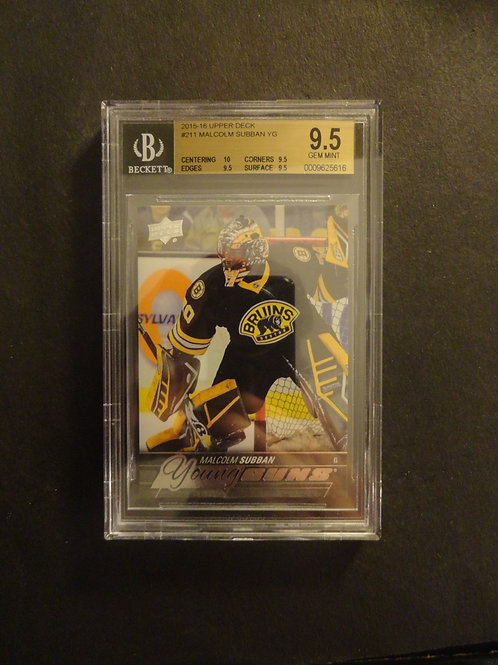 2015 Upper Deck Malcolm Subban Young Guns RC BGS 9.5