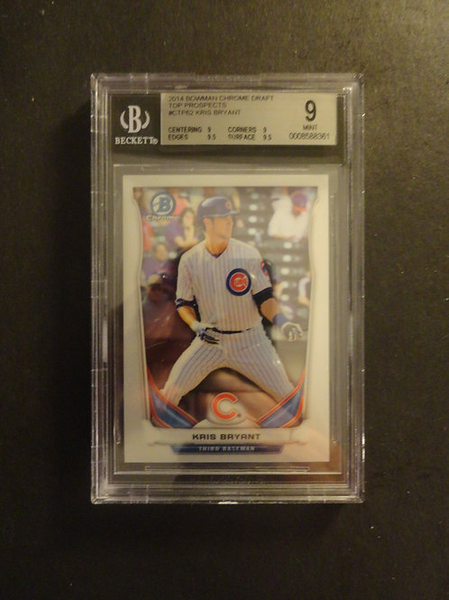 2014 Bowman Chrome Draft Kris Bryant RC BGS 9