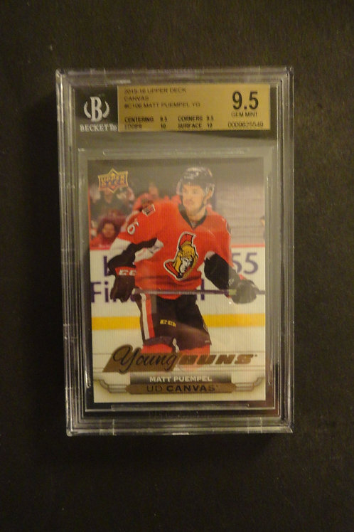 2015 Upper Deck Canvas Matt Puempel Young Guns RC BGS 9.5