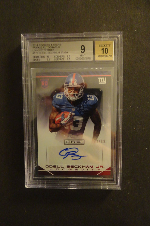 2014 Rookies & Stars Ruby Odell Beckham RC Auto #/99 BGS 9