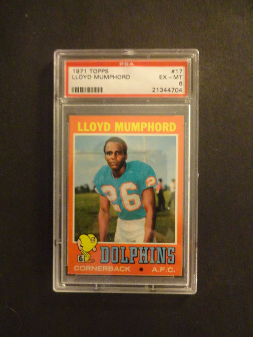 1971 Topps #17 Lloyd Mumphord PSA 6