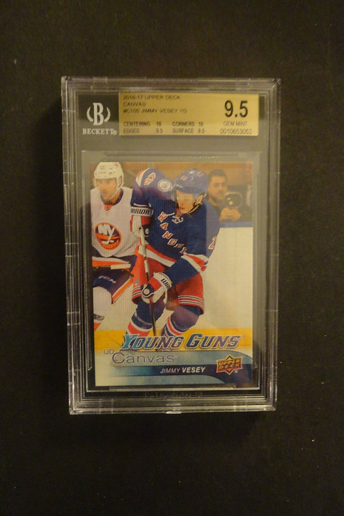 2016 Upper Deck Canvas Jimmy Vessey Young Guns RC BGS 9.5