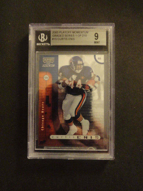 2000 Playoff Momentum Curtis Enis RC #/210 BGS 9