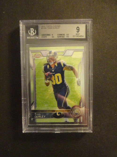 2015 Topps Chrome Todd Gurley RC BGS 9
