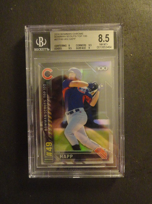 2016 Bowman Chrome Scouts Top 100 Ian Happ RC BGS 8.5