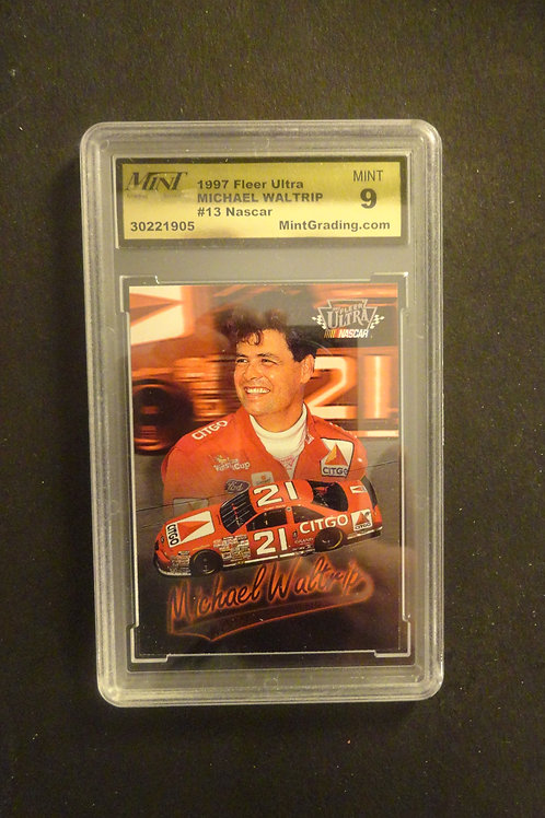 1997 Ultra Michael Waltrip MINT 9