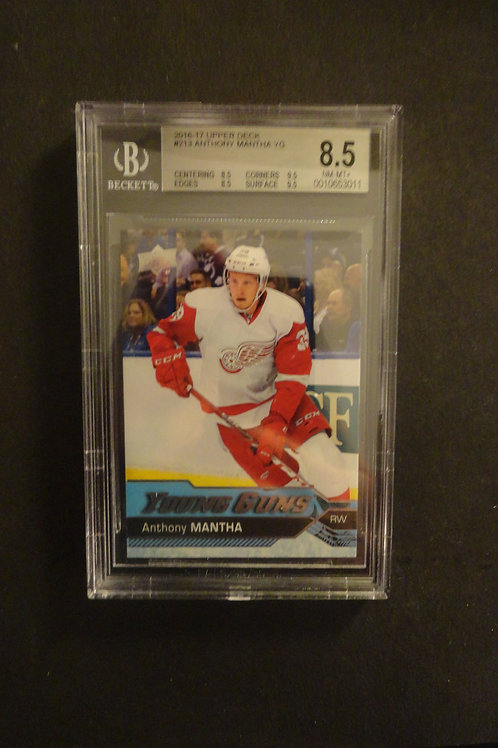 2016 Upper Deck Anthony Mantha Young Guns RC BGS 8.5
