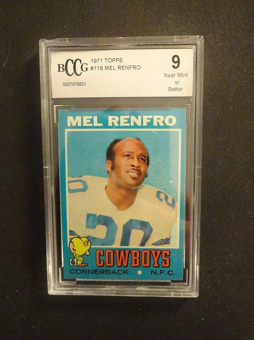 1971 Topps #118 Mel Renfro BCCG 9