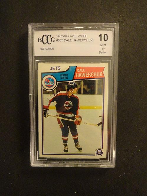 1983 OPC #385 Dale Hawerchuk BCCG 10