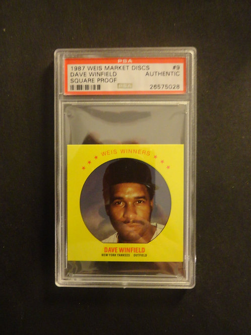 1987 Weis Market Disc Dave Winfield Square Proof PSA Authentic