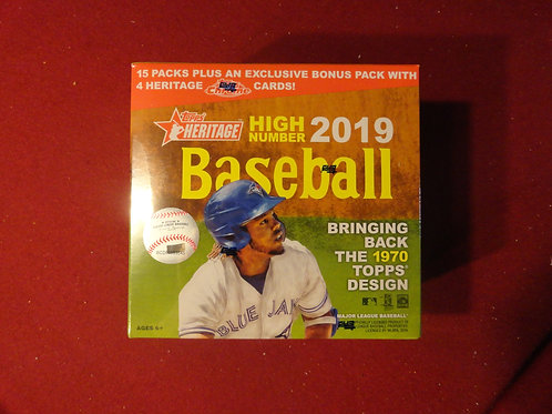 2019 Topps Heritage High Numbers Baseball Monster Box