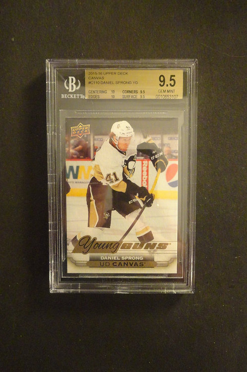 2015 Upper Deck Canvas Daniel Sprong Young Guns RC BGS 9.5