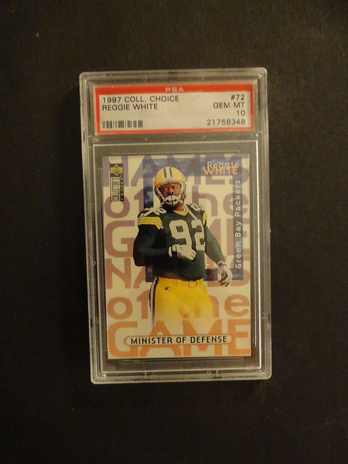 1997 Collector's Choice Reggie White PSA 10
