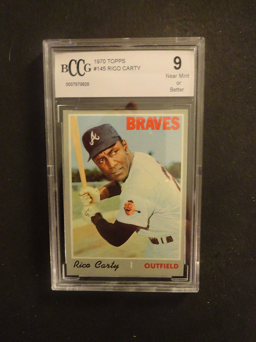 1970 Topps #145 Rico Carty BCCG 9