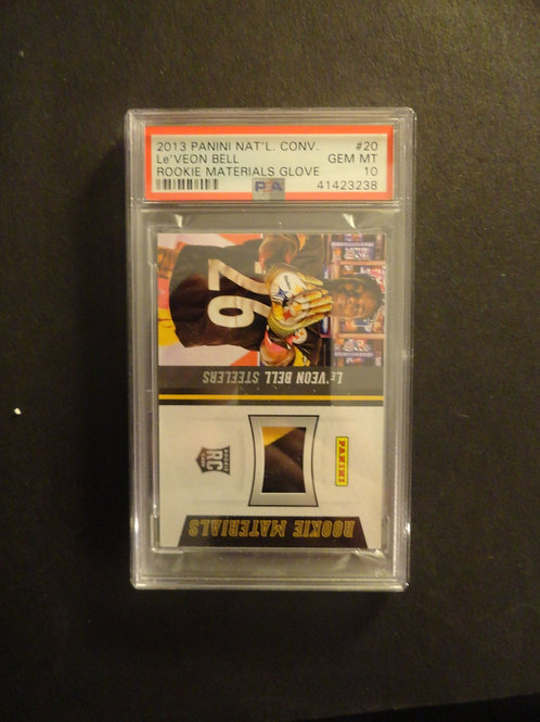 2013 Panini National Convention Le'Veon Bell Materials Gove RC PSA 10