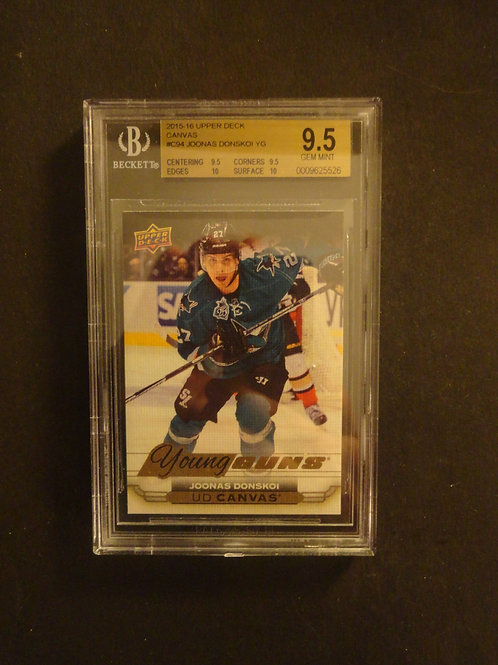 2015 Upper Deck Canvas Joonis Donskoi Young Guns RC BGS 9.5