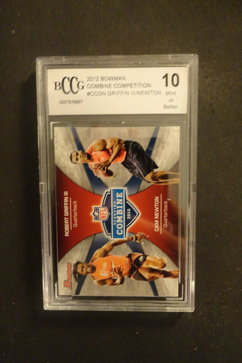 2012 Bowman Cam Newton / Robert Griffin RC BCCG 10