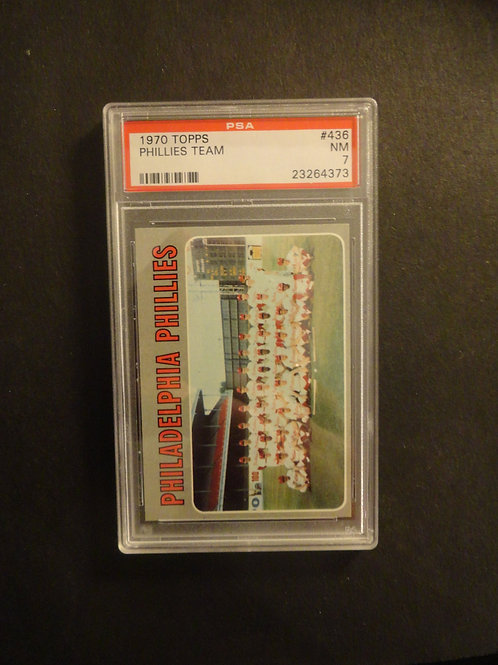 1970 Topps #436 Philadelphia Phillies PSA 7