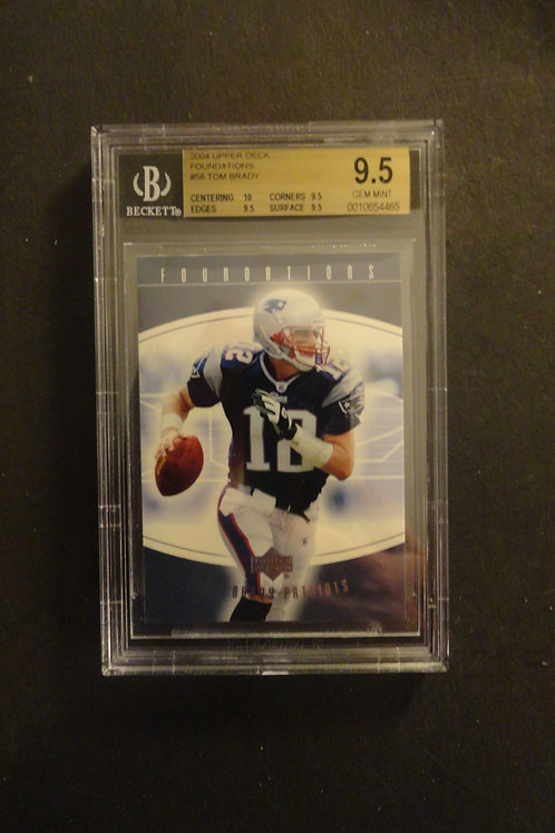2004 Upper Deck Foundations Tom Brady BGS 9.5