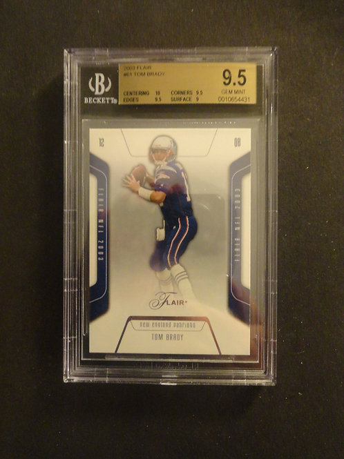 2003 Flair Tom Brady BGS 9.5