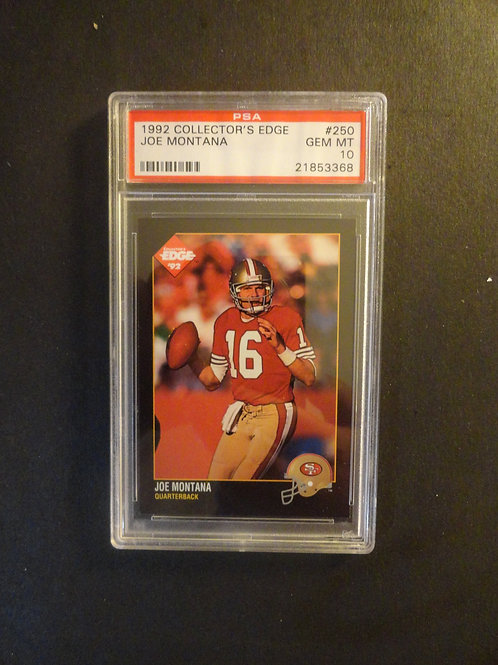 1992 Collectors Edge Joe Montana PSA 10