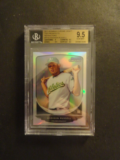 2013 Bowman Chrome Draft Addison Russell Refractor RC BGS 9.5