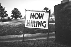 """""""Now Hiring!"""" sign"""
