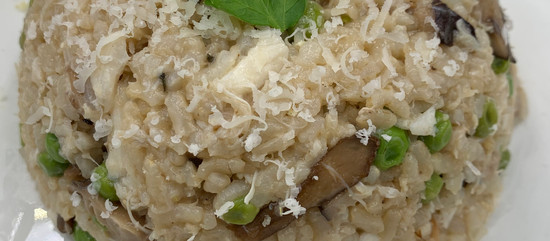 Spring is in the Air! Instapot Crab and Pea Risotto