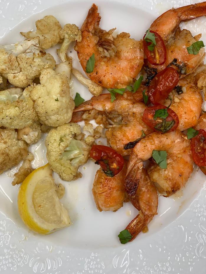 Sheet Pan Dinner Wonder: Spicy Honey Garlic Shrimp with Balsamic Cauliflower