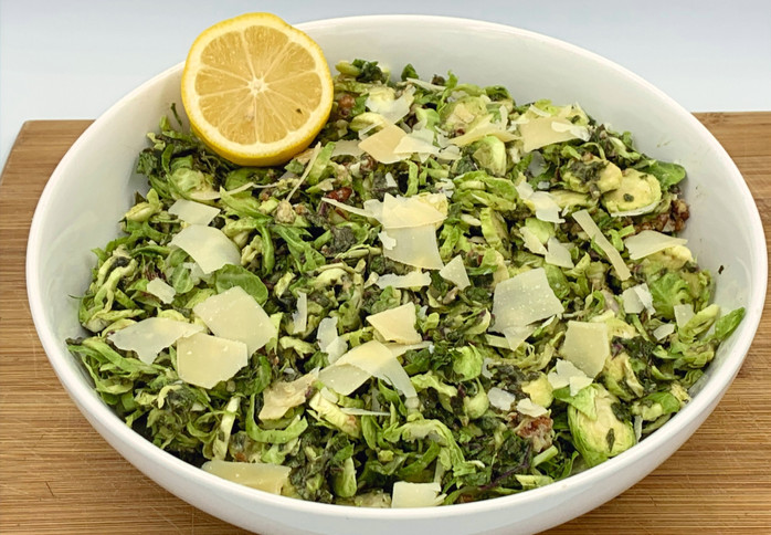 Winter Veggie Remix: Brussel Sprout and Kale Salad