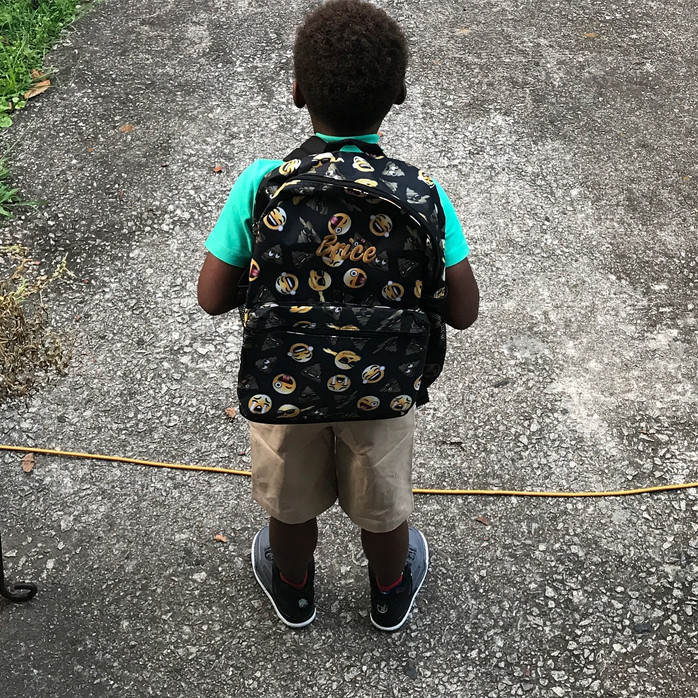 My oldest is going to Kindergarten...if I can actually let go of his hand and allow him to enter the