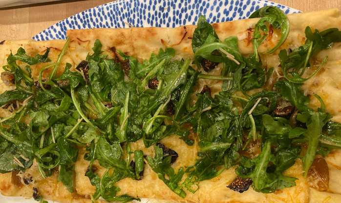 Tried and True Staples for Weeknight Dinners Episode 3: Fig Jam and Arugula White Pizza