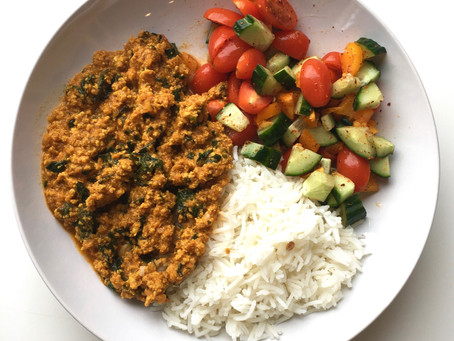 Minced Turkey and Spinach Curry