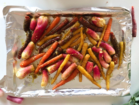 Za'atar Roasted Carrots with Lemony Yogurt