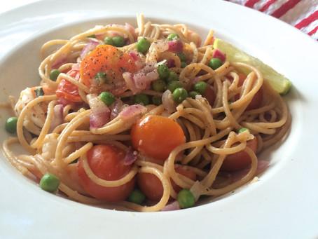 Summery Shrimp Pasta