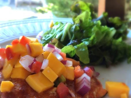 Cumin Rubbed Salmon with Mango Salsa