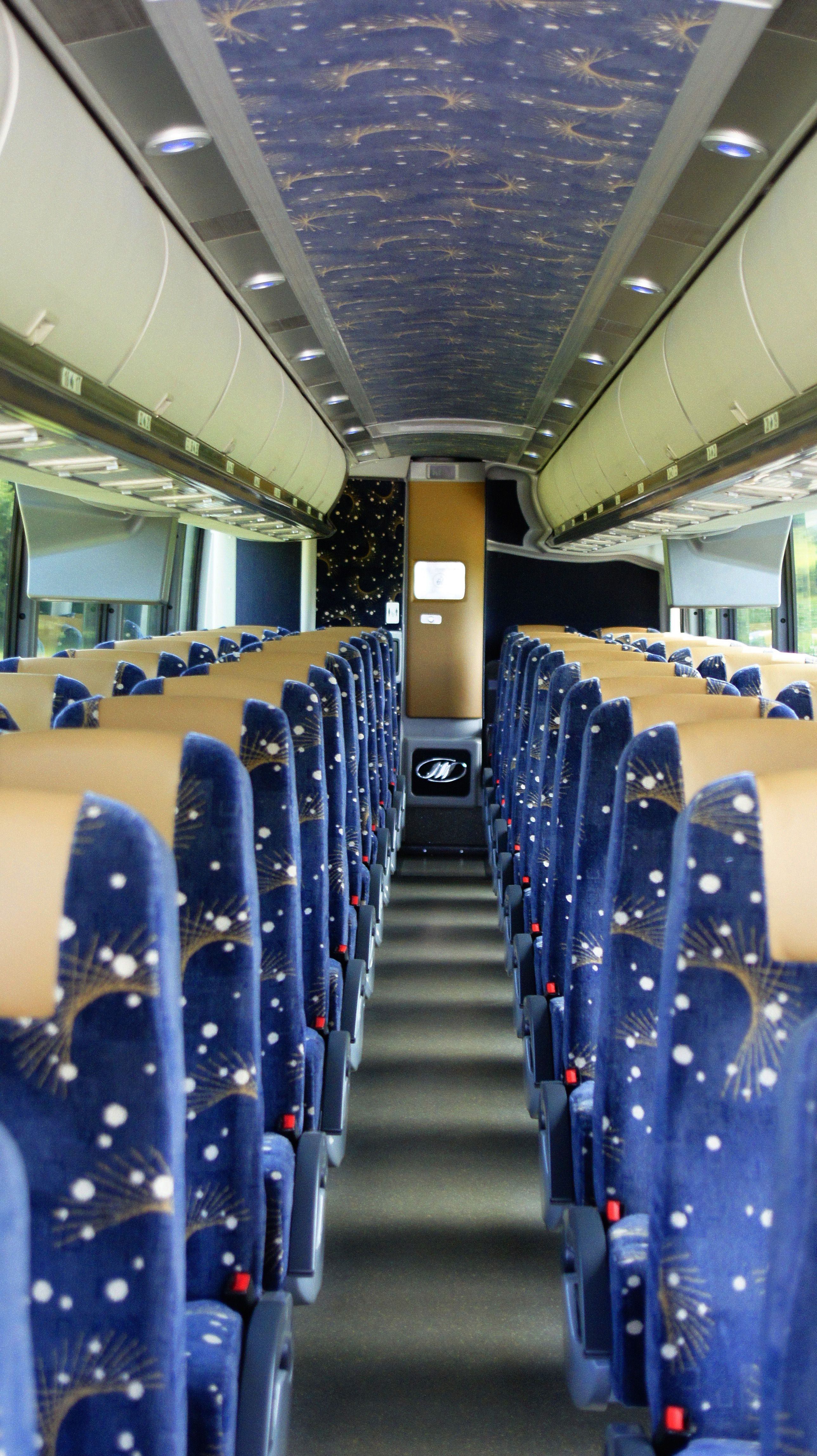 Inside of 56 Passenger Coach Bus