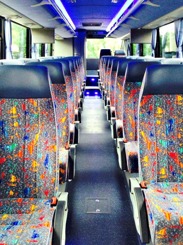 Inside of 38 Passenger Motor Coach
