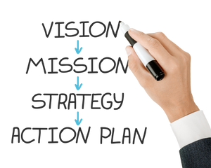 vision- mission-strategy-action plan are ways to succeed in the New Year.