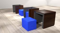 Kombimöbel Sessel und Tisch