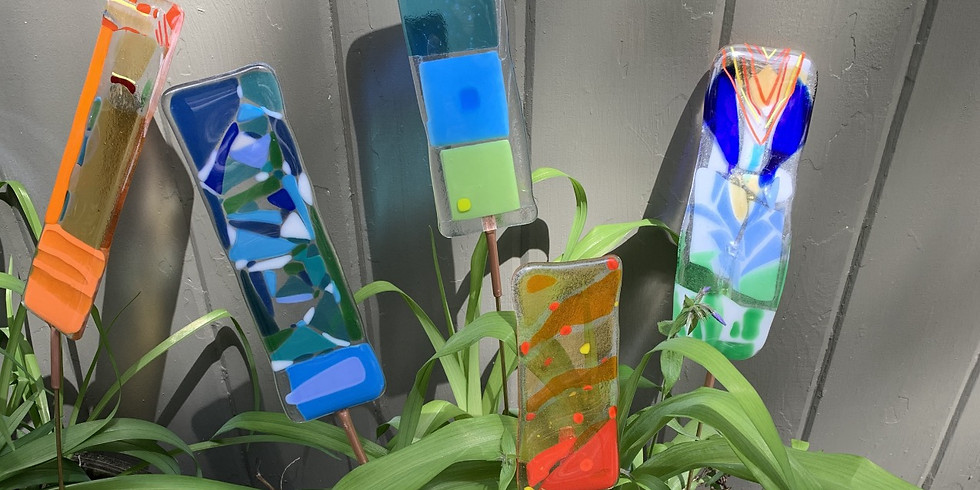Adults Fused Glass Garden Stake Workshop 6-15-21